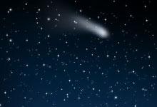 stjernehimmel med stjerneskud